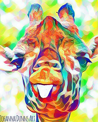 Giggling giraffe johanna dunns art mixed media