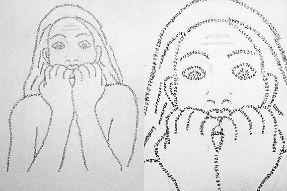 math frusteration graphite pencil johanna dunns art