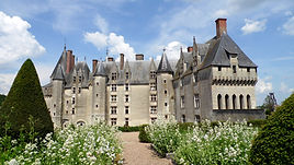 La façade intérieure du Château de Langeais