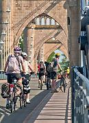 Sur la route de la Loire à Vélo à Langeais