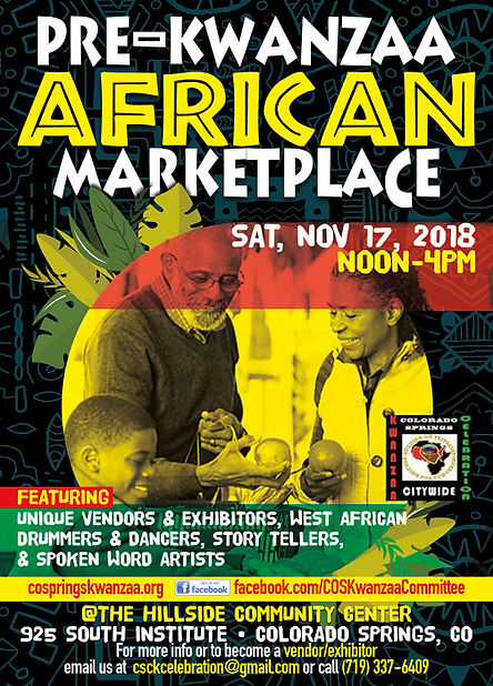 flyer for Colorado Springs 2018 African