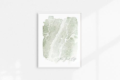 NYC Map Print