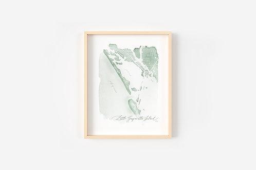 Little Gasparilla Island, Fl Map Print