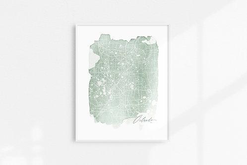 Orlando, Fl Map Print