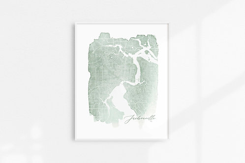 Jacksonville, Fl Map Print