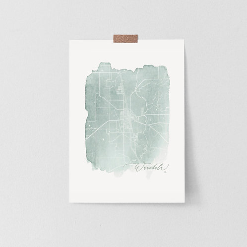 Wauchula, Fl Map Print