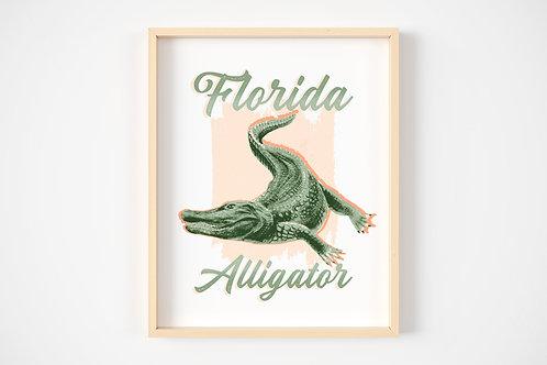 Florida Alligator Print