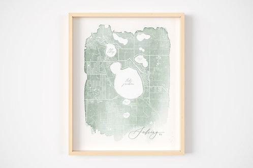 Sebring, Fl Map Print