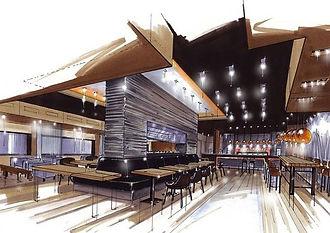 restaurant design sketch up