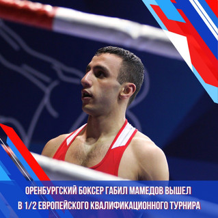 Оренбургский боксер Габил Мамедов вышел в полуфинал Европейского квалификационного турнира