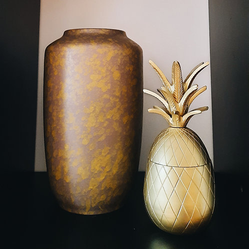 West germany vase ■ yellow brown