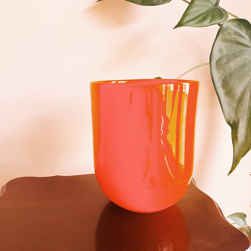 Orangy Red Vase