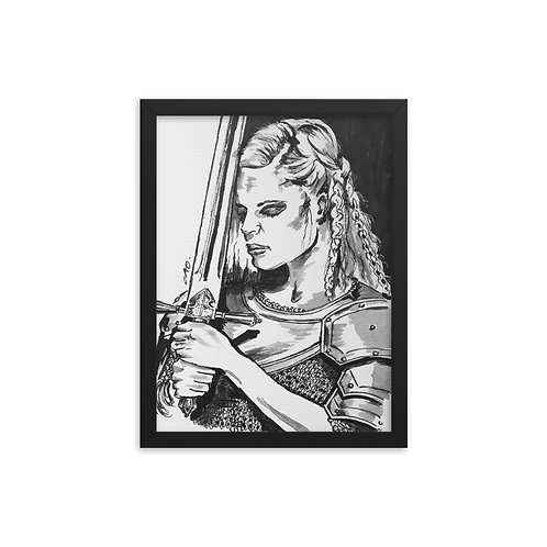 Viking Woman with Armour Framed poster