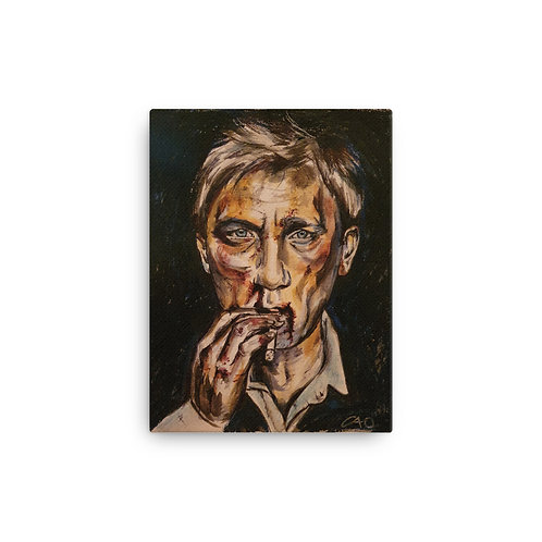 James Bond Canvas Print 12 x 16 inches