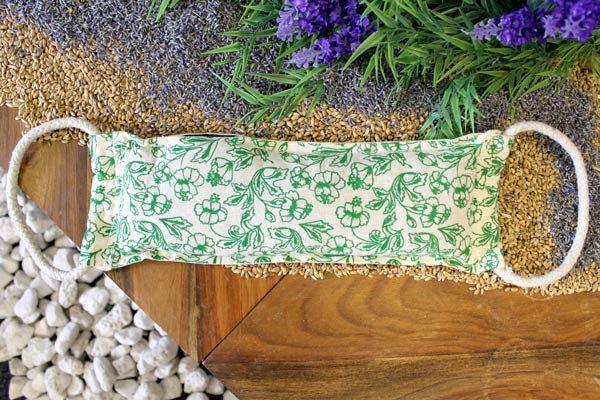 Natural Cotton Wheat Bags with Rope Handles