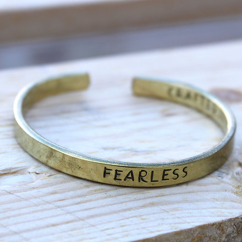 Fearless Brass Bracelet