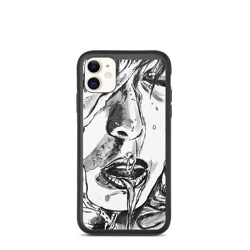 Slippery Art Print biodegradable phone case
