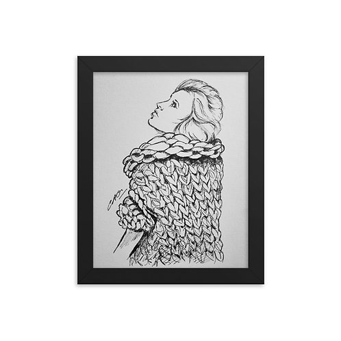 Bulky Knit Framed Print