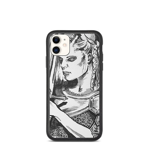 Viking Woman in Armour Biodegradable phone case