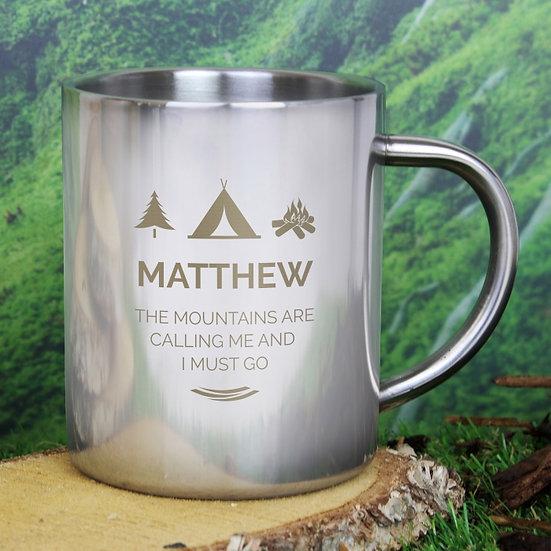 Wilderness Personalised Metal Mug