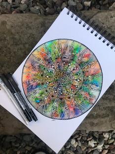 Boho Mandala by Clare Ollif