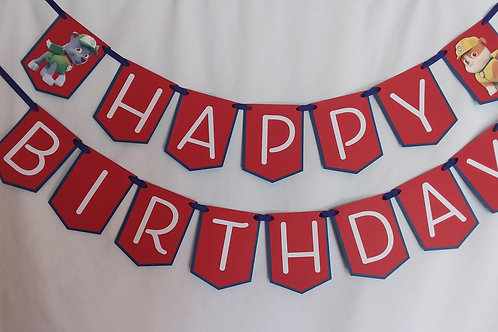 Happy Birthday - Paw Patrol Banner