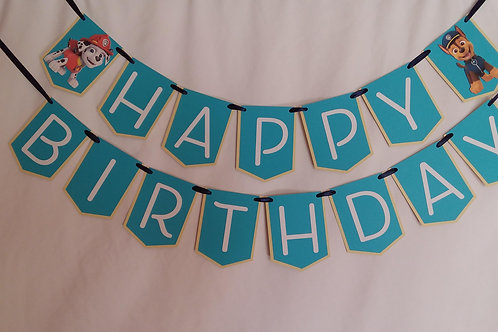 Happy Birthday Banner - Paw Patrol