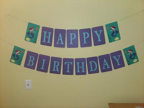 Banner - Mermaid Themed Birthday