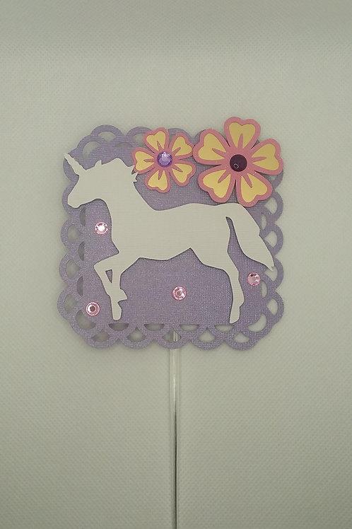 Shimmery Unicorn Cake Topper