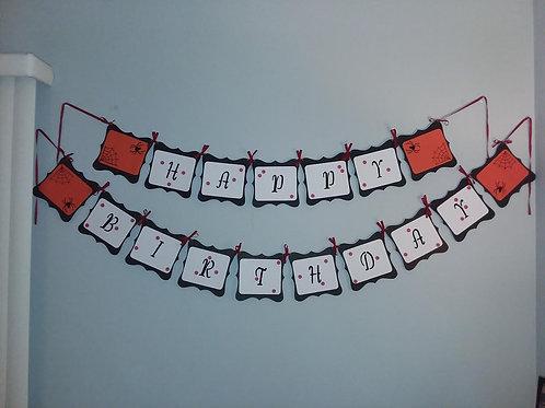 Banner - Halloween Themed Birthday