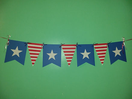 Custom patriotic banner.