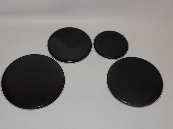 Marching Quad Pack Heads in Black (8,10,12,13)