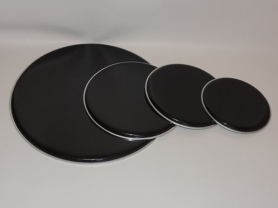Drum Set Jazz Head Pack in Black (20,14,12,10)