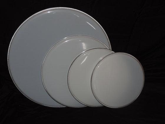 Drum Set Rock Head Pack in White (22,16,13,12)