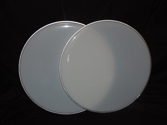 "20"" Bass Drum Heads in White"