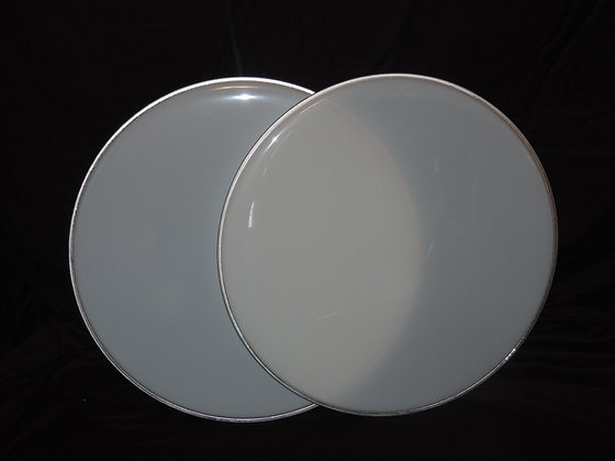 "22"" Bass Drum Heads in White"