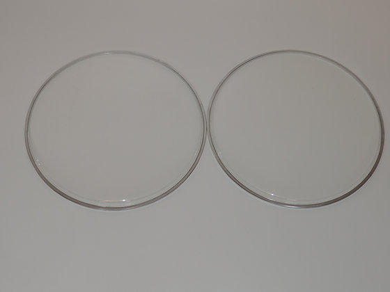"16"" Tom Heads in Clear"