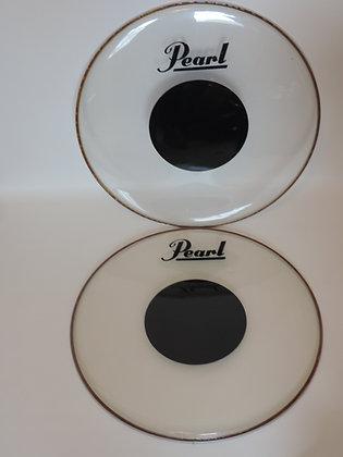 "Remo 24"" CS Black Dot Bass Drum Heads Pair"