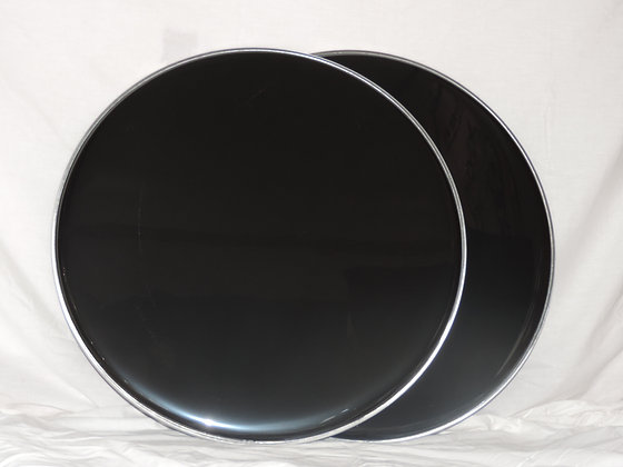 "22"" Bass Drum Heads in Black"
