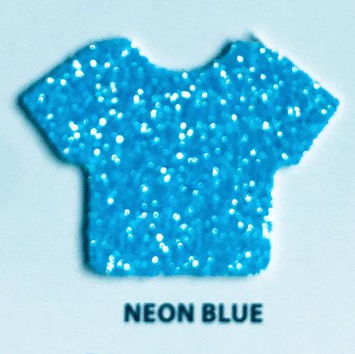 """VINIL TERMICO GLITTER NEON BLUE 20"""""""