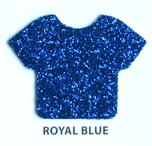 "VINIL TERMICO GLITTER ROYAL BLUE 20"""