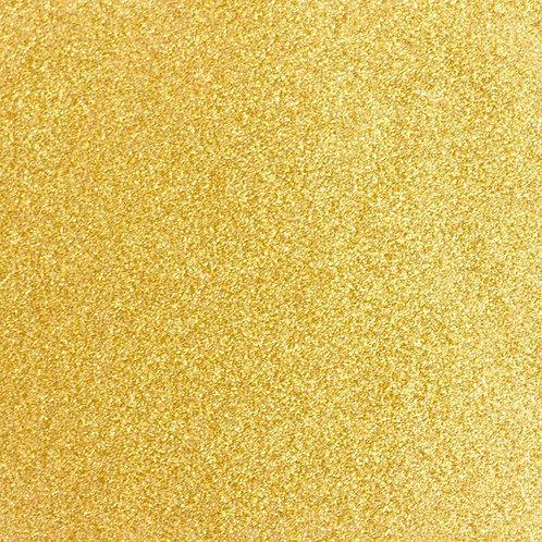 """VINIL TERMICO SPARKLE GOLD STAR 15"""" SISER por YARDA"""