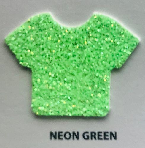 """VINIL TERMICO GLITTER NEON GREEN 20"""""""