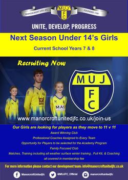 Under 14's Girls 2021