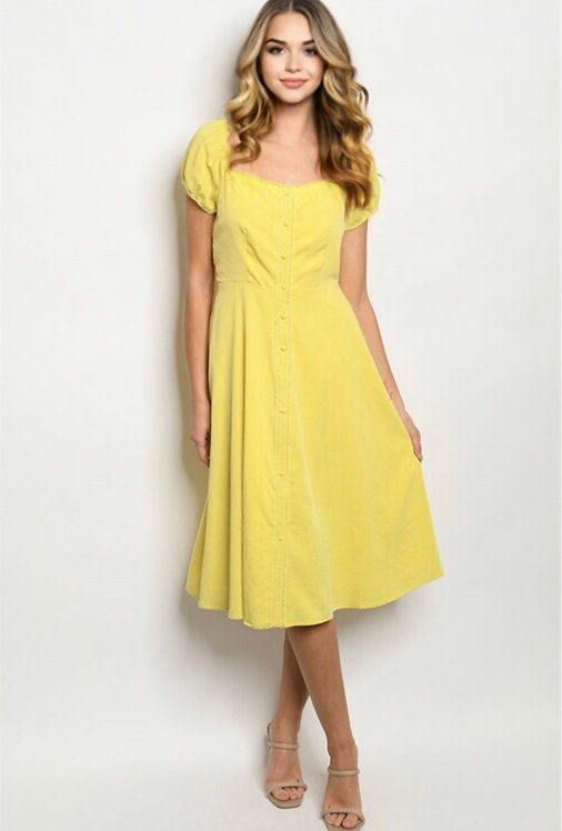 74517 YELLOW DRESS