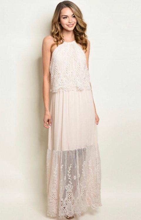 15098 NUDE DRESS