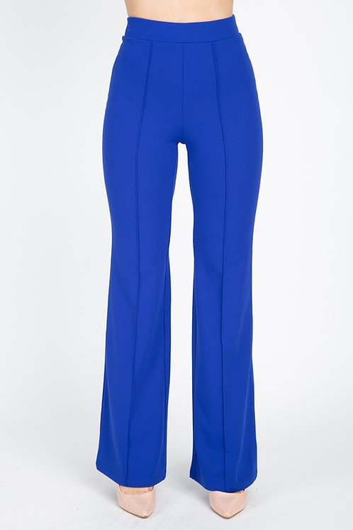 40028 High Waist Banded Flare Pants