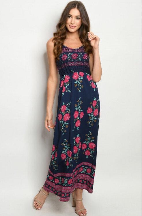 273 NAVY FLORAL DRESS