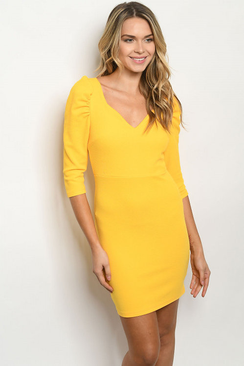 98003 YELLOW DRESS