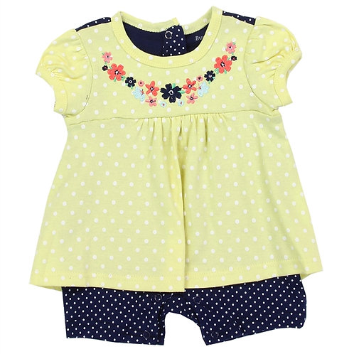 BUSTER BROWN ROMPER YELLOW